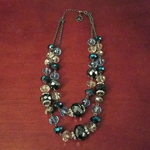 Trifari blue crystal necklace